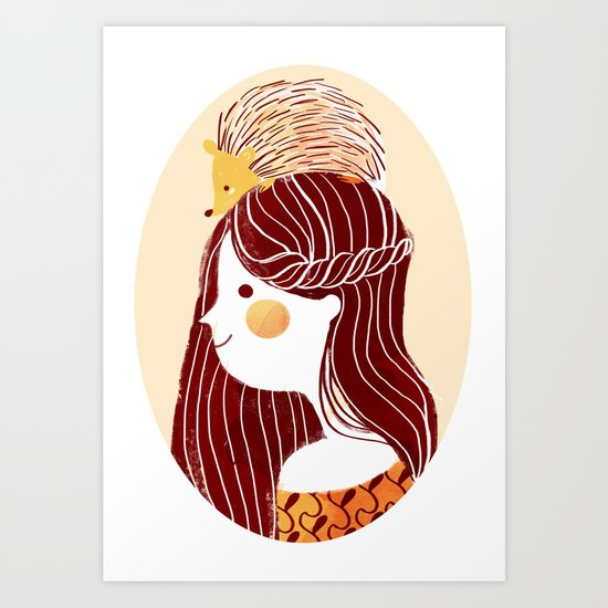 Hedgehog my Friend Art Print