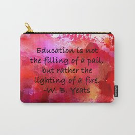 Lighting of a Fire Carry-All Pouch