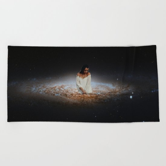 Girl from the Universe Beach Towel