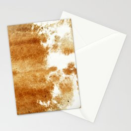 Golden Brown Cow Hide Stationery Cards
