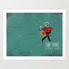 The Time Travelling Pirate Art Print