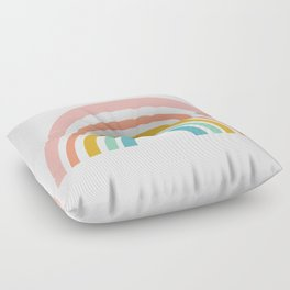 Simple Happy Rainbow Art Floor Pillow