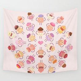 Cupcake Mandala Wall Tapestry