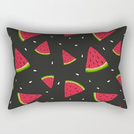 Watermelons in tha dark Rectangular Pillow
