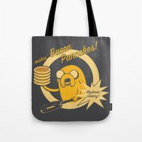 cooking Tote Bags featuring Cooking Time by Perdita