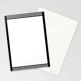 Greek Key - White Stationery Cards