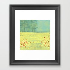 Meadow near Périgueux Framed Art Print