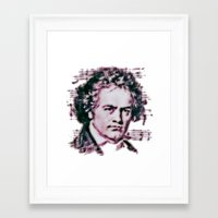 beethoven Framed Art Prints featuring Beethoven by Zandonai