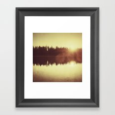 Evening Still Framed Art Print