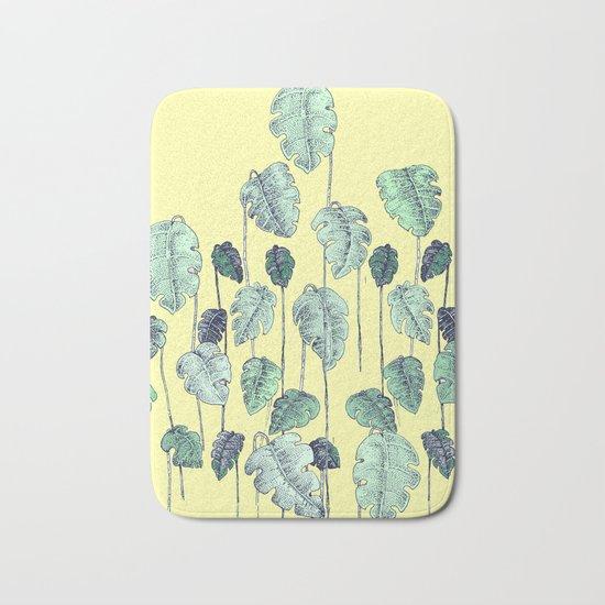 palm leaves pen Bath Mat