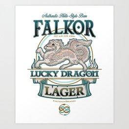 Lucky Dragon Lager Art Print
