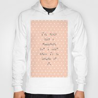 calendars Hoodies featuring I've never been a millionaire ~ Polka Dots ~  poster ~ typography ~ illistration by Shabby Design Studio