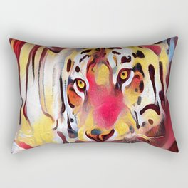 Abstract Tiger with Reflection Rectangular Pillow