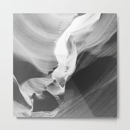 ANTELOPE CANYON VII (B+W) Metal Print