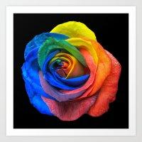 Unusual Rose Art Print