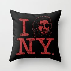 I (Snake) NY Throw Pillow