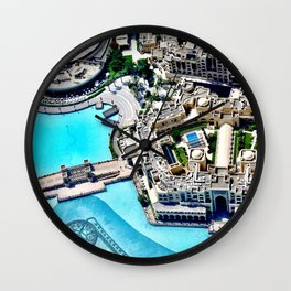 Dubai Fountain Wall Clock
