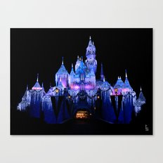 Sleeping Beauty's Winter Castle Canvas Print