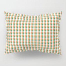Small Orange White and Green Irish Gingham Check Plaid Pillow Sham