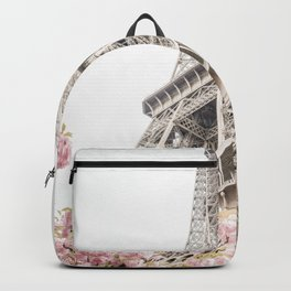 Eiffel Tower Cherry Blossoms Backpack