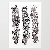 henna Art Prints featuring Henna  by apratt