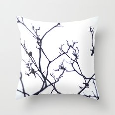 B I R D S. Throw Pillow