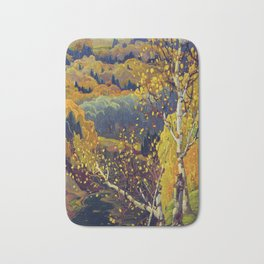 Franklin Carmichael Canadian artist Art Nouveau Post-Impressionism October Gold Bath Mat