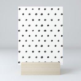 Scribbly Polka Dot Mini Art Print