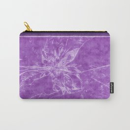 Pale Yellow Poinsettia 1 Outlined Purple Carry-All Pouch