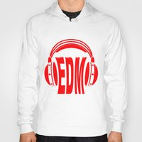 edm Hoodies featuring EDM Style Headphones by Mark