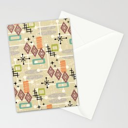 Retro Mid Century Modern Atomic Abstract Pattern 241 Stationery Cards