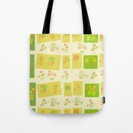 Midcentury Floral Pattern Tote Bag