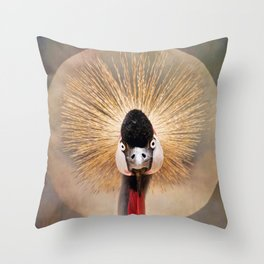 Crested Crane  Throw Pillow
