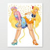 sailor venus Canvas Prints featuring Sailor Venus by Jen Bartel