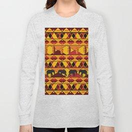African Tribal Pattern No. 34 Long Sleeve T-shirt