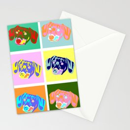 Dachshund Pop Art Stationery Cards