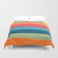 happiness Duvet Covers featuring Happiness by Janko Illustration