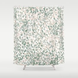 Lighthearted Flamingo Green Shower Curtain