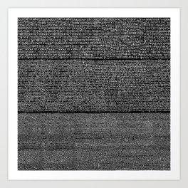 The Rosetta Stone // Black Art Print