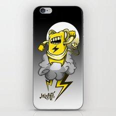 StormBot - yellow robot iPhone & iPod Skin