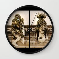medieval Wall Clocks featuring Medieval Nightmare by Irina Chuckowree