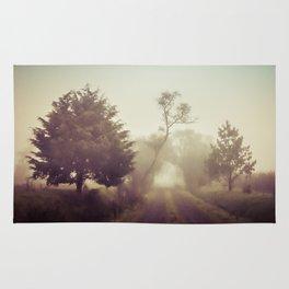 Walking in the fog Rug