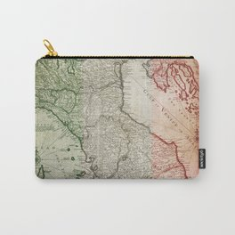 Vintage Map of Italy Carry-All Pouch