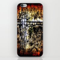 bathroom iPhone & iPod Skins featuring Bathroom Linoleum by christopher justin gilner photographic