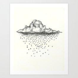 gloomy cloud Art Print