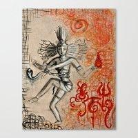 shiva Canvas Prints featuring Shiva by Maithili Jha