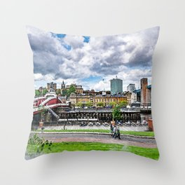 Newcastle upon Tyne city art #newcastle #england Throw Pillow
