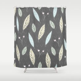 The one with the leaves - Gray Shower Curtain