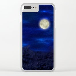 Boga Lake, Bandarban || Bangladesh (Moonlight) Clear iPhone Case
