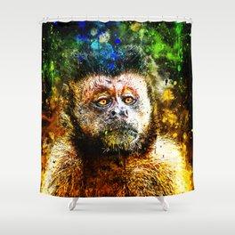 bored monkey wsstd Shower Curtain